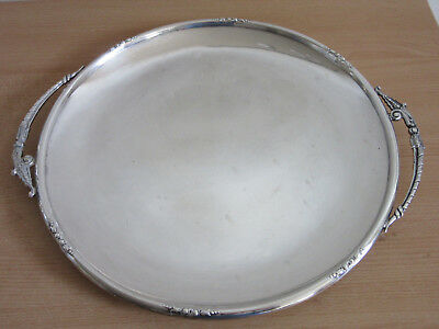 "Vintage Sterling Silver by Fina #412H double handled 14"" serving tray platter"