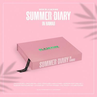 2019 BLACKPINK'S SUMMER DIARY IN HAWAII DVD+P.Book+Card+Sticker+Poster+etc+GIFT