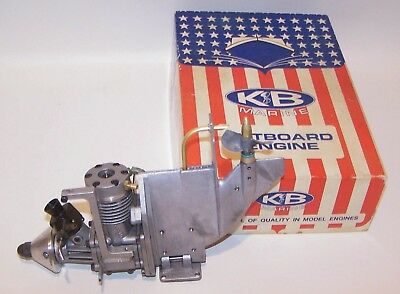 Excellent In Box 1980 K & B 3.5cc R/C Outboard Model Marine Engine