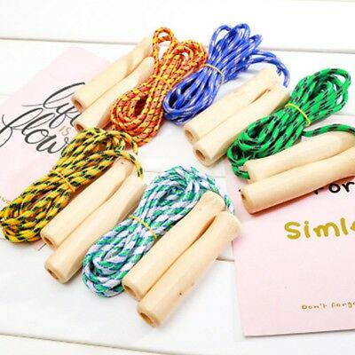 Wooden Handle Jump Ropes Sports Body Building Fitness Equipment Skipping Rope