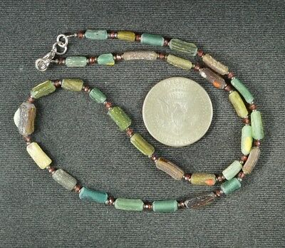 Ancient Roman Glass Beads 1 Medium Strand 100 -200 Bc 0975