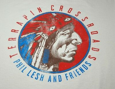 Rare Phil Lesh The Grateful Dead Hippie T-Shirt XL Native American Men's XLarge