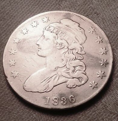 1836 Capped Bust United States Half Dollar Silver ~AG/G Condition