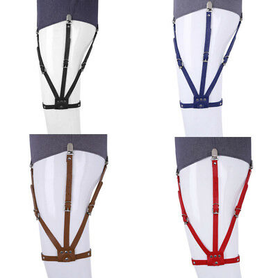 Shirt Stays for Men Fully Adjustable Leg Garters Suspenders Side-fixing Locking