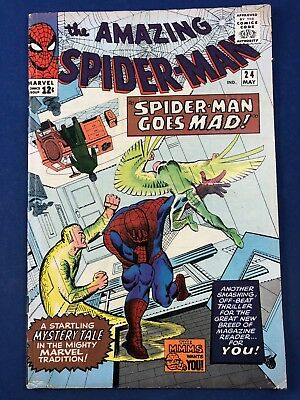 Amazing Spider-Man #24 (1965 Marvel) Mysterio appearance Silver Age NO RESERVE