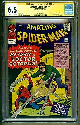 Amazing Spider-Man #11 (1964 Marvel) Dr Octopus app Signed Stan Lee SS CGC 6.5