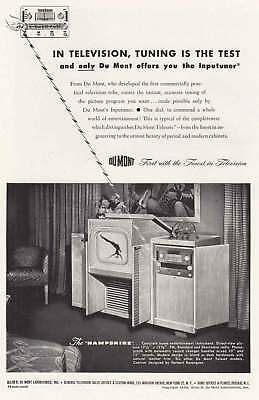 1947 DuMont Television: Inputuner Vintage Print Ad
