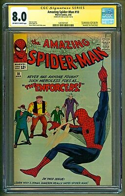 Amazing Spider-Man #10 (1964 Marvel) 1st apearance Enfocers Stan Lee SS CGC 8.0