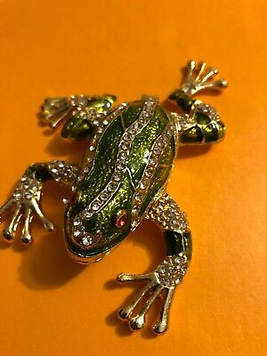 Metal Green Frog Open And Close !!