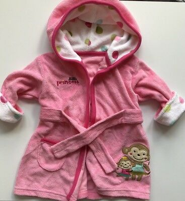 Baby Girl Pink Robe Size 0-9M