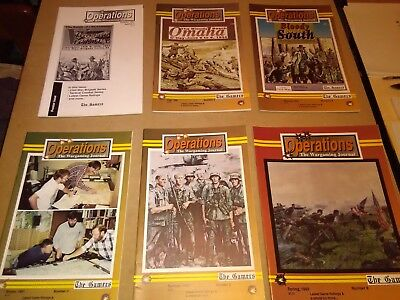 The Gamers Operations Magazine lot of 11 issues. wargames, Avalon Hill, GMT, SPI