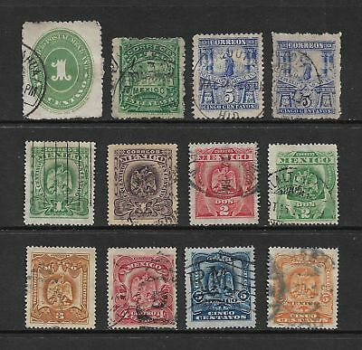 MEXICO mixed early collection, 1886-1899, used