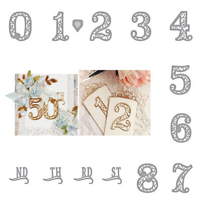 Lace Numbers Metal Cutting Dies Stencil for Craft DIY Scrapbooking Embossing