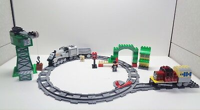 LEGO DUPLO THOMAS THE TRAIN 3301 Cranky 3352 Salty Spencer With Track Set Up