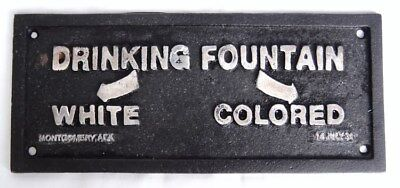 Cast Iron Black Americana Segregation Drinking Fountain