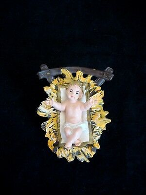 Vintage 2 piece set, Baby Jesus & Manger for Nativity, Made in ITALY