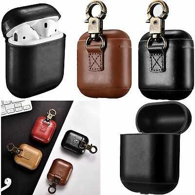 Leather Case Cover Skin Bronze Buckle Earphone Protective Case for Apple Airpod