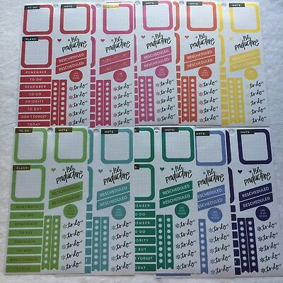 Create 365 The Happy Planner Sticker Sheets Rainbow To Do Boxes Checklists Plans