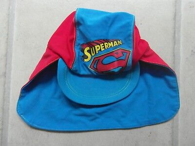 BABY / CHILD: SUPERMAN HAT with NECK FLAP for SUN PROTECTION 1 - 2 YEARS - NEXT