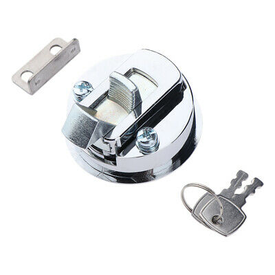 316 Stainless Steel Round Flush Hatch Latch Handle Lift Cabinet Lock w/ Keys