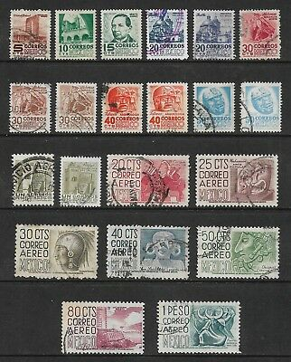 MEXICO 1950 issue, incl Air Mail, part set, used
