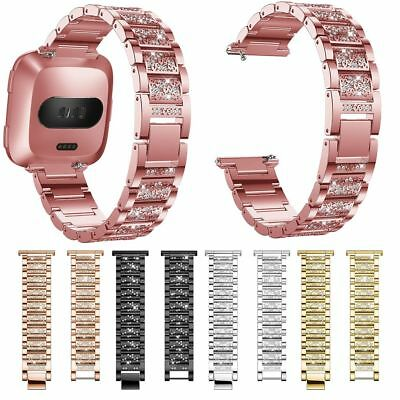 Luxury Replace Stainless Steel Strap Wrist Band Bracelet For Fitbit Versa Watch
