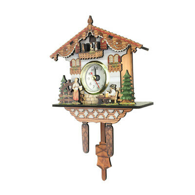 Antique Cuckoo Wall Clock Vintage Wooden Clock Home Decor Perfect Gifts