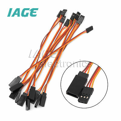 10PCS 300mm Servo Erweiterung Lead Wire Kabel RC Futaba JR Female to Male 30cm