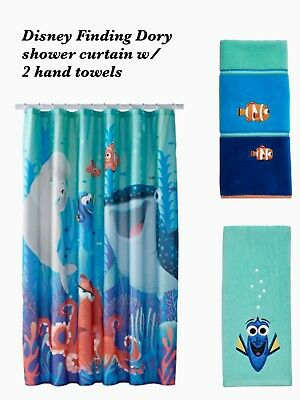 New Boy Girl Disney Finding Dory Shower Curtain 2 Hand Towels By Jumping Beans