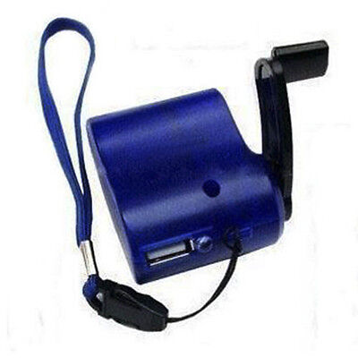 USB Hand Crank Cell Phone Emergency Charger Manual Dynamo Fit MP4 MP3 #DT4X