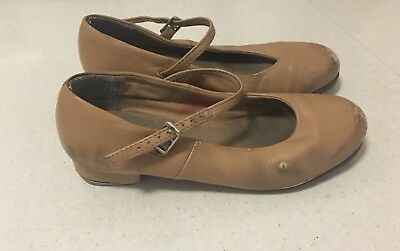Bloch Tap Shoes Tan Leather Girls Size 1.5