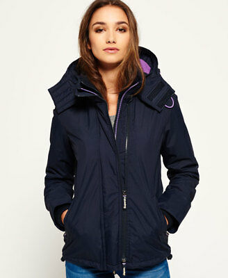 Superdry Mujer Chaqueta con capuchaArctic SD-Windcheater  French Navy
