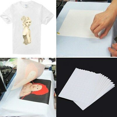 20X Iron On T-shirt Light Fabric A4Heat Transfer Paper Kit for Inkjet PrinterNEW