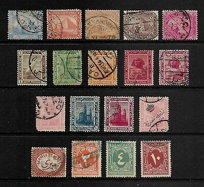 EGYPT mixed collection No.21, 1879-1927, incl Official, Postage Due, used