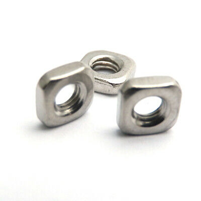 100X M5x8x2.6mm  A2 STAINLESS STEEL SQUARE THIN  NUTS  DIN 562
