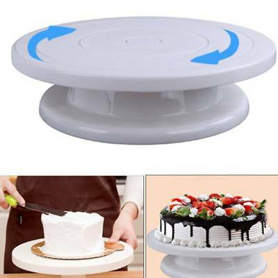 "11"" Rotating Revolving Plate Decorating Cake Turntable Kitchen Display Stand"