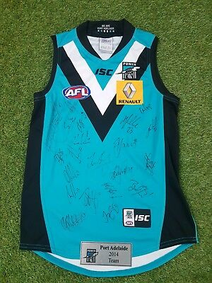Port Adelaide Power 2014 Team Signed Guernsey /plaque /COA