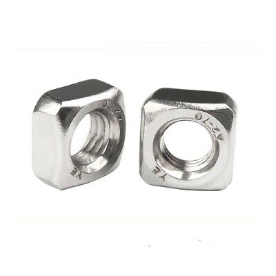 100X M8x13x3.9mm A2 STAINLESS STEEL SQUARE THIN  NUTS  DIN 562