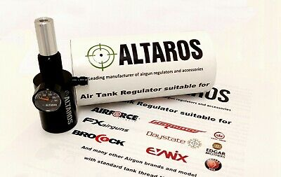 Altaros Airgun pressure regulator with manometer with additional airchamber