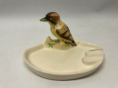 Vintage pottery Australian Kookaburra ashtray