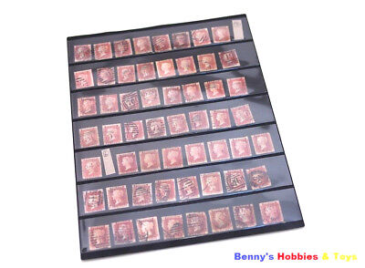 10 Sheets of Stamp Album Stock Pages (7 Strips) Display - Black & Double Sided