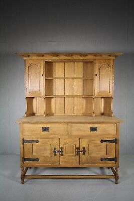 Rare Early Antique Oak Dresser by Heals London- Stamped
