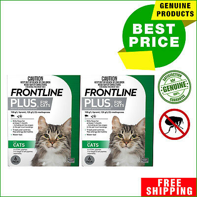 FRONTLINE PLUS For Kittens and Cats 12 Pipettes Flea Treatment for Cats
