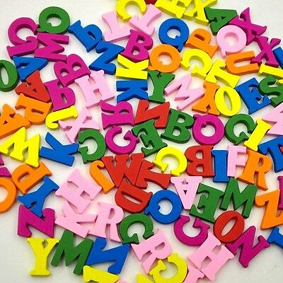 Party Diy Decorations 100pcs Wooden Colored Mixed Letters English Alphabet Handmade Diy Accessories Wooden Scrapbooking Craft Wedding Party Decoration Home & Garden