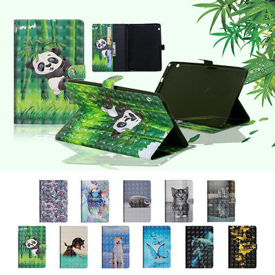 3D Magnetic Case PU Leather Stand Cover for Huawei MediaPad T3 10 9.6inch 2017