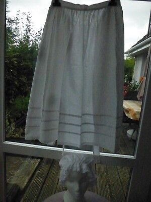 White Victorian Style Apron And Mop Cap