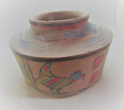 Finest Circa 2200-1800Bce Ancient Indus Valley Harappan Painted Terracotta Pyxis