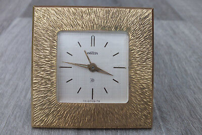 Vintage Angelus Travel Clock - 8 day movement - Great Retro Look - offers