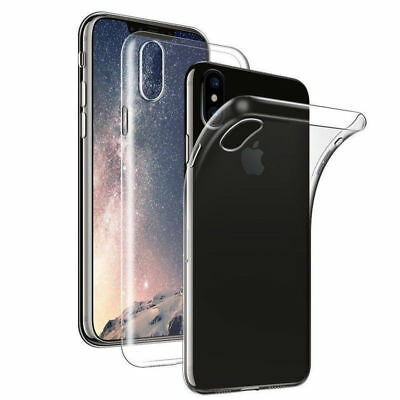 For iPhone XS Max XR X Clear Case Soft Slim Shockproof Transparent Rubber Cover