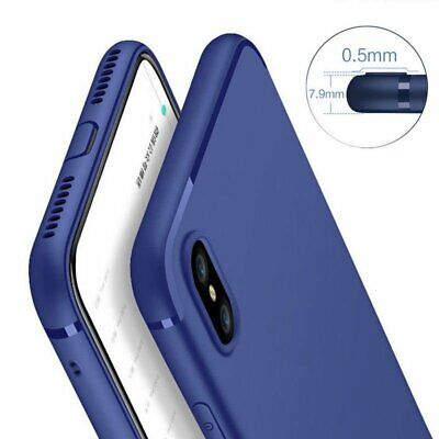 For Apple iPhone XS Max XR X Slim Soft Silicone Rubber TPU Thin Gel Case Cover